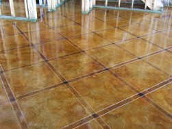 Beautiful Kitchen Floor - Decorative Concrete Floors
